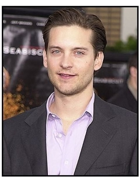 """Tobey Maguire at the """"Seabiscuit"""" premiere"""