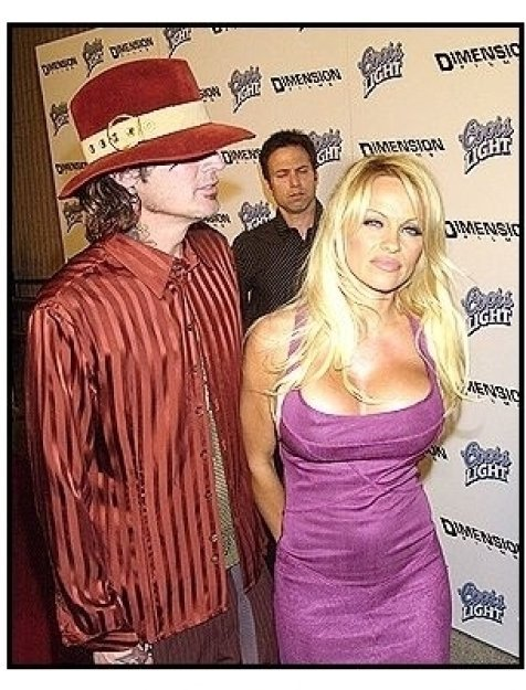 """Tommy Lee and Pamela Anderson at the """"Scary Movie 3"""" premiere"""