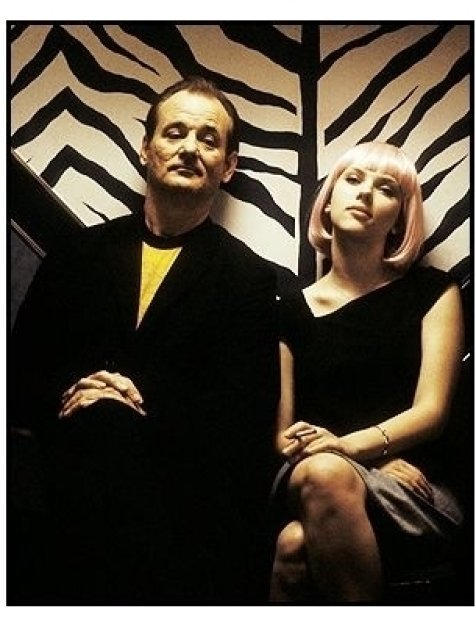 """Lost in Translation"" Movie Still: Bill Murray (left) and Scarlett Johansson"