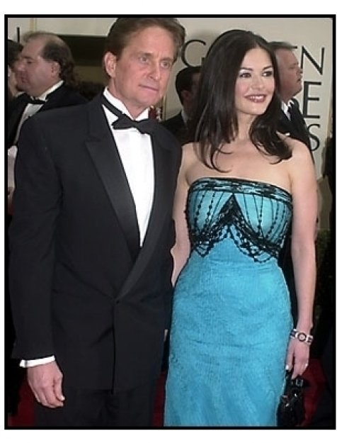 Michael Douglas and Catherine Zeta-Jones at the 2001 Golden Globe Awards