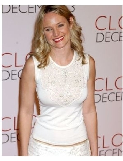 Sharon Case at the Closer premiere