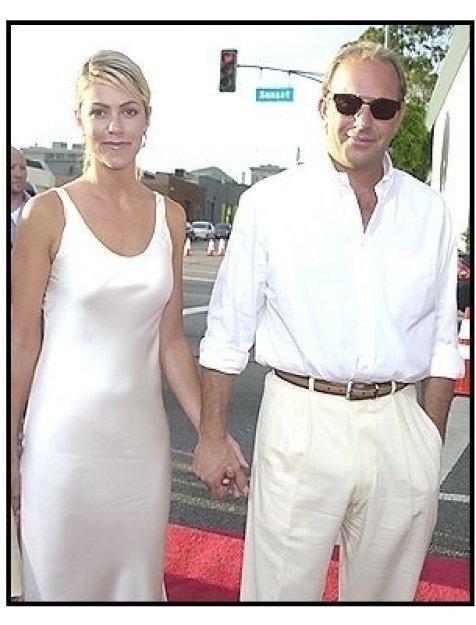 """Kevin Costner and Christine Baumgarten at the """"Open Range"""" premiere"""