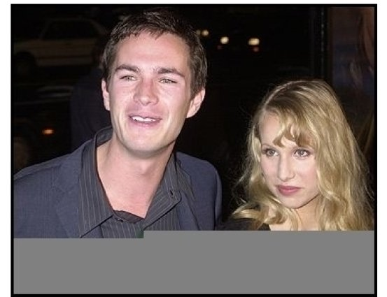 "James D'Arcy and Lucy at the ""Master and Commander"" premiere"