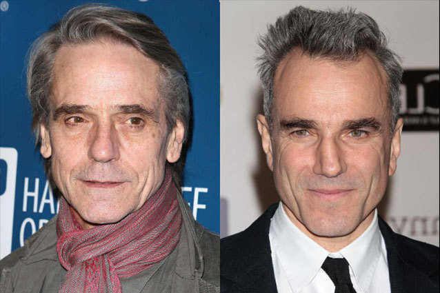 Jeremy Irons, Daniel Day Lewis, celebrity dopplegangers gallery