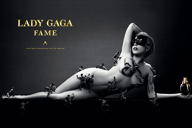 Lady Gaga Fame perfume add