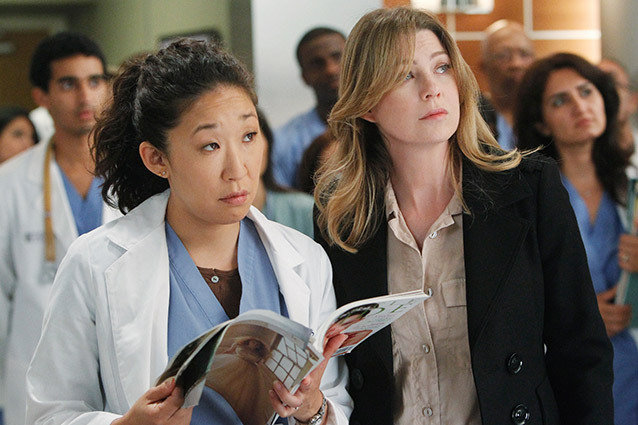 Ellen Pompeo and Sandra Oh, Grey's Anatomy
