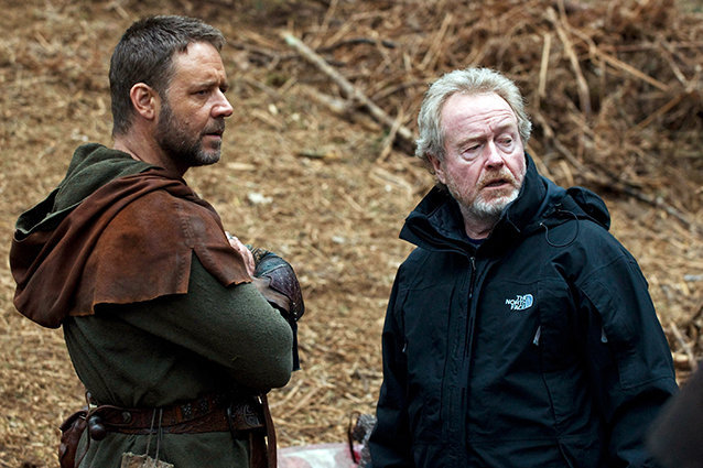 Ridley Scott and Russell Crowe, Robin Hood